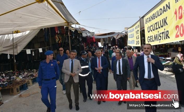 Kaymakam Aksoy ve Başkan Çakıcı Panayır Esnafını Ziyaret Ettiler